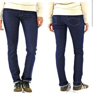 PATAGONIA Straight Leg Jeans Dark Wash Mid Rise